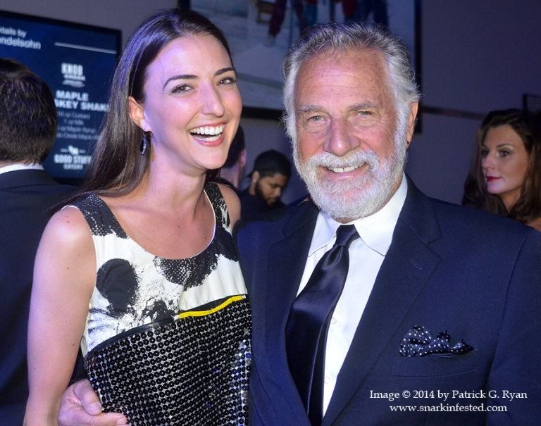 05/02/14 Kate Michael and Dos Equis' World Most Interesting Man, Jonathan Goldsmith at The Hill Newpaper's White House Correpondents' Weekend party at the Embassy of Canada on Friday night. Image © 2014 by Patrick G. Ryan www.snarkinfested.com (301) 775